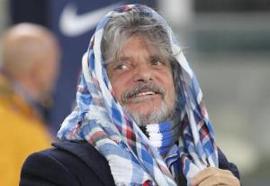 Sampdoria's President Massimo Ferrero during the Italian Serie A soccer match Hellas Verona FC vs UC Sampdoria at Bentegodi stadium in Verona, Italy, 08 December 2014. ANSA/FILIPPO VENEZIA