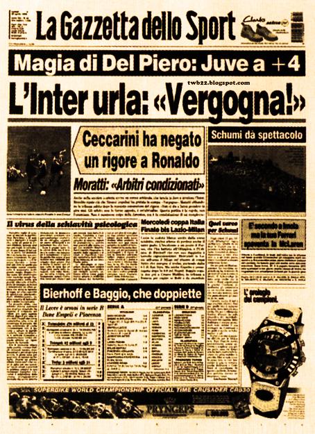 Risultati immagini per juventu - Inter 26 aprile 1998