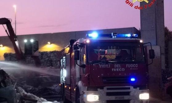 Rifiuti: incendio impianto nelLodigiano