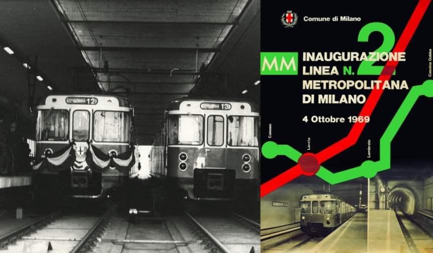 Buon compleanno M2, la metropolitana Verde di Milano compie 50 anni e sirinnova