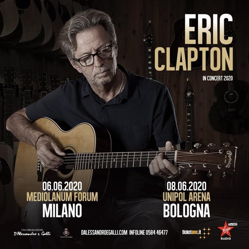 Eric Clapton torna inItalia