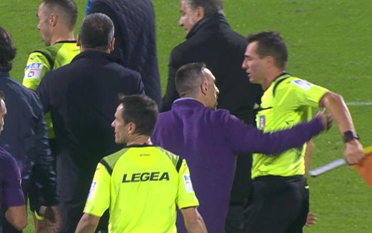 "Fiorentina, Ribery rischia pesante squalifica. Furia Commisso: ""Arbitraggio scandaloso"""