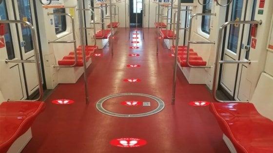 La Fase 2 del coronavirus: a Milano un milione di posti in meno in metropolitana per mantenere ledistanze