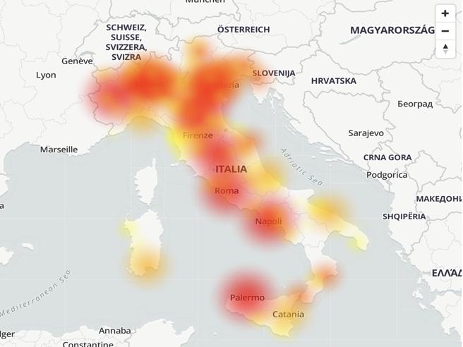 Wind Tre down, problemi alla rete dati in tuttaItalia