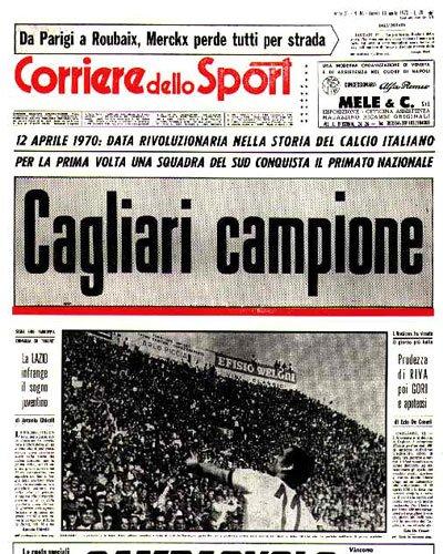 L'ANNIVERSARIO Cagliari, uno scudetto diventatoepopea
