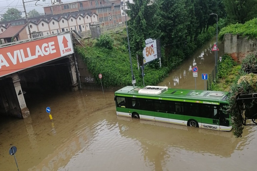 Nubifragio su Milano