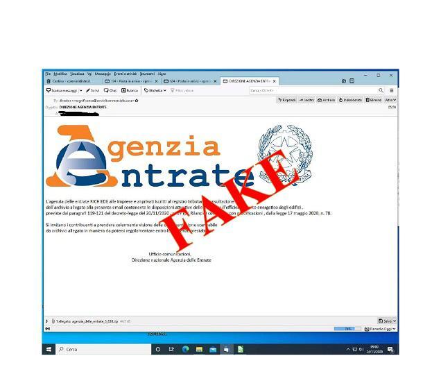 Nuova ondata di false email diphishing