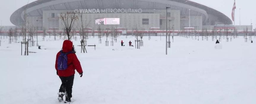 Liga: tempesta di neve su Madrid, rinviata Atletico-Athletic Bilbao