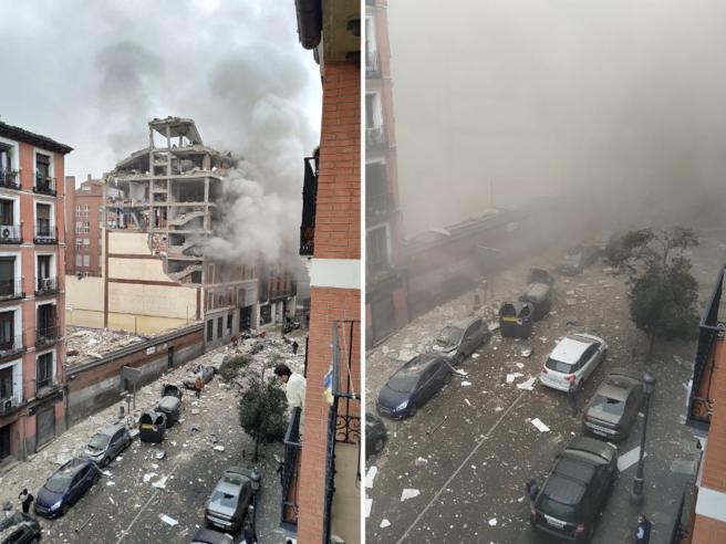 Esplosione a Madrid, fuga di gas in un edificio: 3 morti e 8 feriti. Sanchez: «Vicino alle famiglie dellevittime»