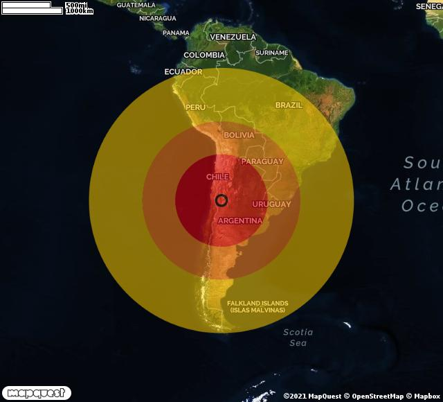 Terremoto di magnitudo 6.8 in Argentina, abitazioni senza correnteelettrica
