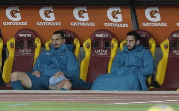 Milan, lesione all'adduttore per Ibrahimovic: stop di almeno duesettimane