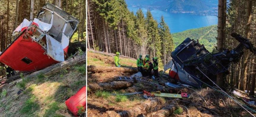 Funivia Stresa-Mottarone, cade una cabina: nove morti e due bambinigravi