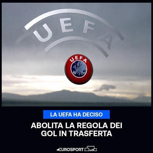 Abolizione della regola dei gol in trasferta in tutte le competizioni UEFA perclub